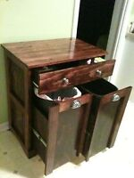 2 wooden bin garbage cans SOMEONE TO MAKE