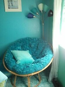 Pier 1 Teal Papasan Chair