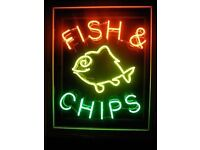 Wanted Neon signage