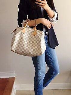 Louis Vuitton 'Speedy 30 Damier Azur' Bag