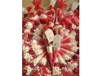 HALAL SWEET CONES FOR WEDDINGS - HANDMADE CONES- BOOK NOW - 07955557003