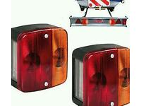 Trailer lights with cable