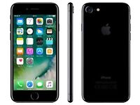 IPHONE 7- UNLOCKED TO ANY NETWORK- 128gb- JET BLACK