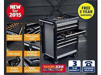 quality heavy duty titanium tool box on wheels , brand new in box unused.