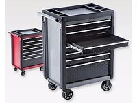 New Tool Cabinet - Black or Red - 7 Ball Bearing Drawers - Top Quality - Lockable - Half Price!