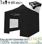 ACTIE! easy up partytent party pop up tent 3x3 3x4,5 meter
