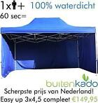 AANBIEDING! easy up partytent opvouwbare tent vouwtent 3x4.5