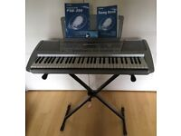 Virtually new Yamaha Electronic keyboard Portatone PSR-290 with X-stand