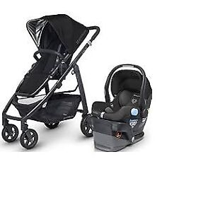 Uppababy Cruz  Stroller with  car seat and adapter