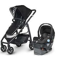 Uppababy Vista stroller with car seat-adapter+diaper bag