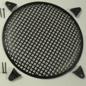"""2x - 12"""" Steel Subwoofer Speaker Grill Cover w/ Clips"""
