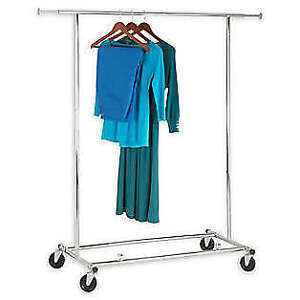 Collapsible Commercial Rolling Garment Rack