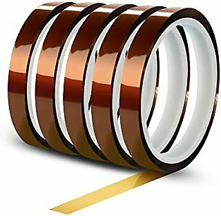 5pcs 25mm X 36yds Kapton Polyimide High Heat Tape Manufacturedsold In The Usa