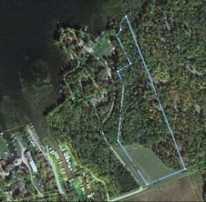 20 acres managed forest 392' on lake Nipissing by crown land