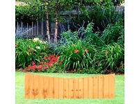 BOW FEATHEREDGE FENCE PANEL: 6′ WIDE X 2′ HIGH - BULK PACKAGE OF 12