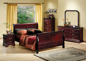 6 PC WOOD QUEEN BEDROOM SET FOR ONLY $699.99 AT HOMETOWN