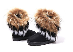 Fashion Women's Autumn Winter Snow Boots Ankle Boots Warm Synthe