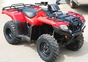 2015/16 HONDA TRX420/500 RENTALS BY THE DAY , WEEK , MONTH.