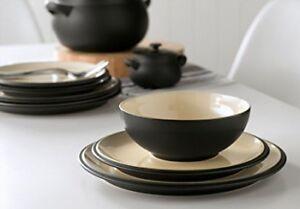 Denby Dine Black 32 Piece Dinnerware Set