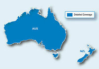 Australia and New Zealand Map for Garmin GPS Units