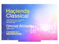 2 Hacienda classical tickets Brighton racecourse 9th September