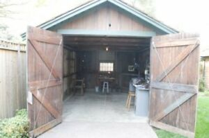 DEMOLITION FENCE SHED WOOD GARAGE PLAYSCAPE TREES