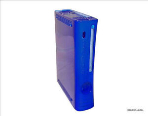 New Xbox 360 Blue Console Shell Case Face Plate Non Hdmi Ships from UK