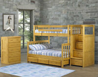 OMG Bunk bed sale!100% Solid wood Canadian made bunks