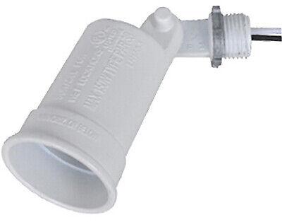 White Weatherproof Porcelain Socket Lampholder
