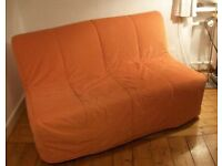 Ikea Lycksele orange sofa bed cover only