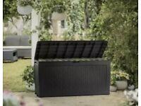 Rattan effect outdoor storage box