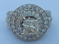CERTIFIED 2.72 CARATS DIAMOND RING 14 WHITE GOLD