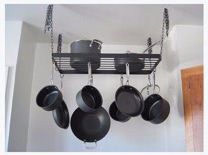 IKEA Kroken Hanging Metal Black Pot Rack | in Castle ...