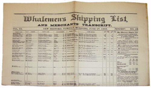 """WHALEMEN'S SHIPPING LIST AND MERCHANTS' TRANSCRIPT"""