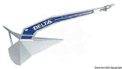 LEWMAR Delta Marine Boat Zinc-Plated Steel High Grip-Power Anchor 63kg