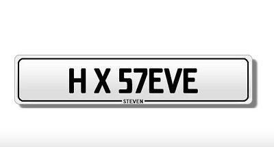 **Personal Number Plate - HX57 EVE - H X 57EVE - STEVEN/STEVE £800 **