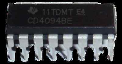 Cd4094be Cd4094 Cd4094b Ti 8 Stage Shift And Store Bus Register Dip16 Us Seller