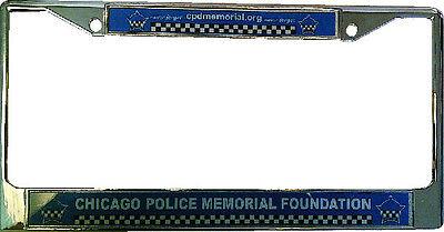 Chicago Police Memorial Metal Chrome Frame