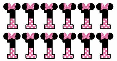 Disney Minnie Mouse Cupcake Toppers Edible Image Minnie Ears Any