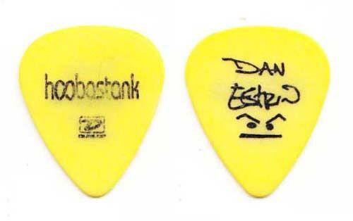 Hoobastank Dan Estrin Signature Yellow Guitar Pick - 2004 Tour