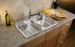Drop In Double Bowl Stainless Steel Sink