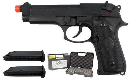 SRC SR92 Gas Blowback Airsoft Gun with Case Extra Magazine Speed Loader