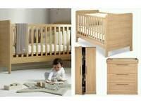mamas and papas rialto furniture set cot bed changer drawers and wardrobe