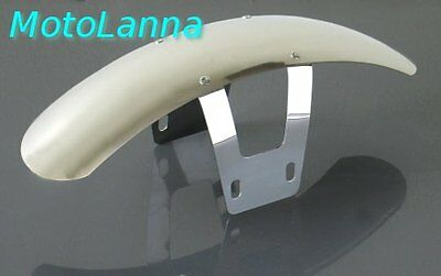 BOBBED STAINLESS STEEL FRONT FENDER <em>YAMAHA</em> SR500 SR400 XS650 CAFE RACE