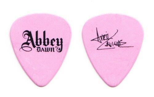 Avril Lavigne Signature Pink Abbey Dawn Guitar Pick - 2011 Tour