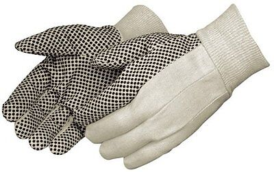 Black And White Cottonpolyester Work Gloves Two-sided Pvc Dots Gloves 6 Pairs