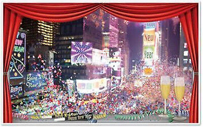TIMES SQUARE HAPPY NEW YEAR Scene Setter party wall decor kit 5' NEW YORK ball](Happy New Year Party)