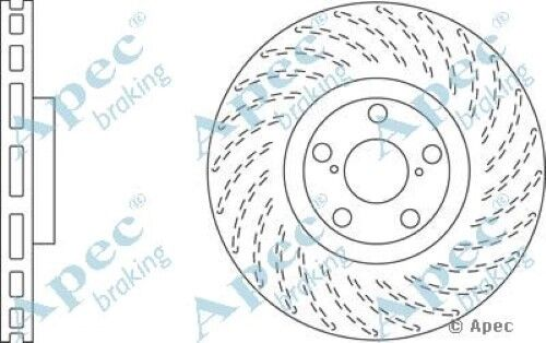 1 OE Quality Replacement Front Left Apec Vented Brake Disc 5 Stud 334mm Single