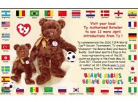 TY 2002 World Cup football Babies