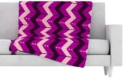 Kess InHouse Nick Atkinson Chevron Dance Purple Fleece Throw Blanket - 1A027H